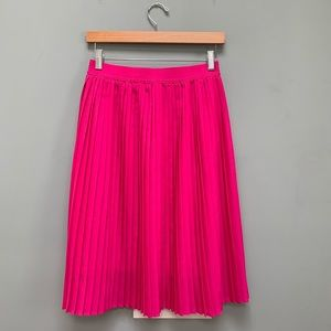 A New Day pleated pink midi skirt